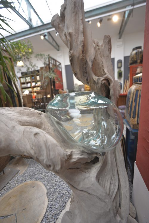 Vase soufflé en verre recyclé